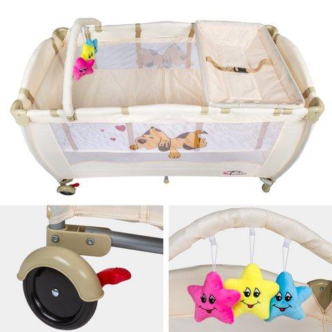 Culla lettino da viaggio regolabile in altezza bebé