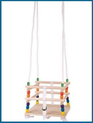 Altalena in legno per bambini 1-3 anni