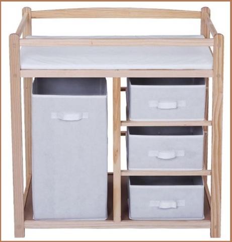 Fasciatoio in legno con cassetta inclusa