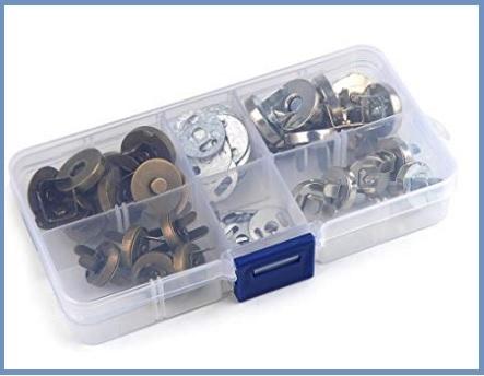 Bottoni magnetici da cucire