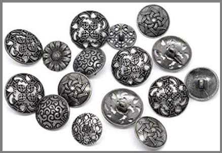 Bottoni a fiore in metallo