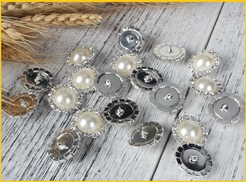 Bottoni gioiello perle