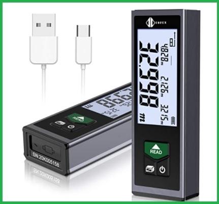 Dispositivo misuratore laser ricaricabile con schermo lcd