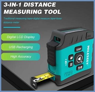 Misura nastro laser digitale 40m misuratore laser