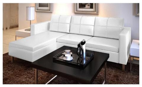 Divano 3 posti a sedere angolare colore bianco