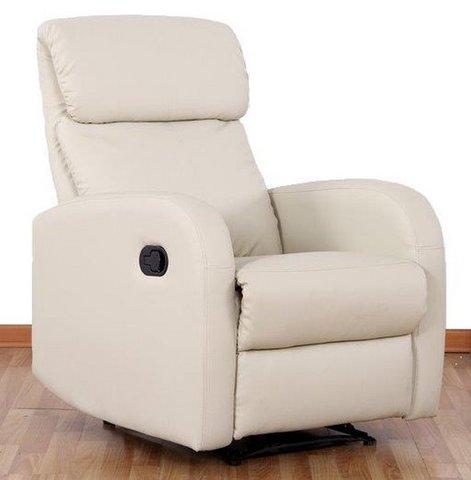 Poltrona relax manuale reclinabile e con poggiapiedi