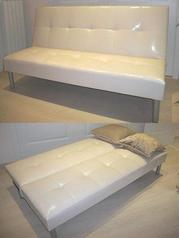 Sofà divano letto 3 posti beige