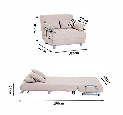 Sconti su divano letto in tessuto