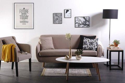 Originale divano moderno in tessuto