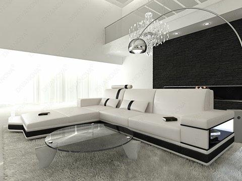 Selezione divani moderni angolare in similpelle