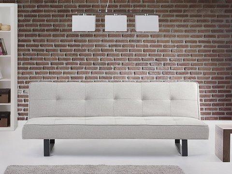 Divano moderno tessuto chiaro con schienale relax