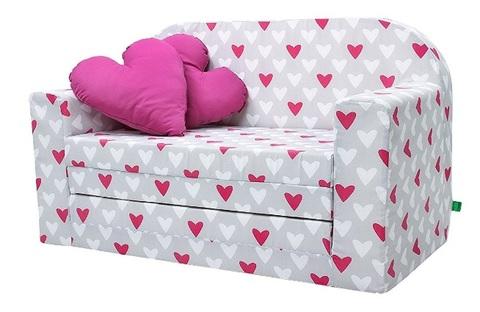 Divano letto per bambini con cuoricini grandi sconti tutto divani e poltrone - Divani letto per ragazzi ...