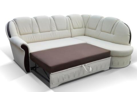 Divano angolare rifinito con funzione di letto