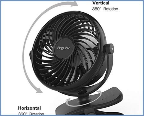 Mini Ventilatore Da Tavolo Batteria