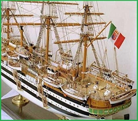 Modellino navale legno
