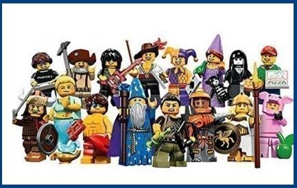 Pupazzi 16 personaggi tutti diversi lego