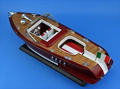 Modellino Motoscafo In Legno Realizzato A Mano