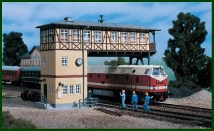 Cabina e ponte per modellismo ferroviario
