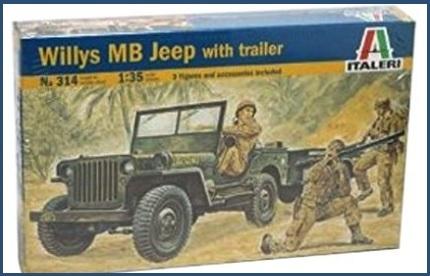 Jeep militari guerra modellismo
