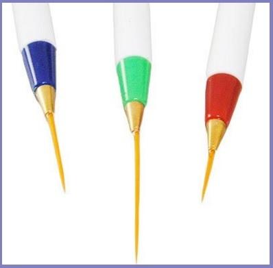 Nail art set pennelli per decorare le unghie con il gel