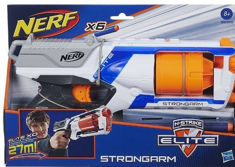 Pistola Grande Nerf Per Bambini Con 6 Dardi