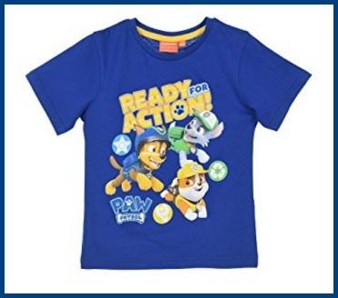 T shirt di paw patrol per bambino