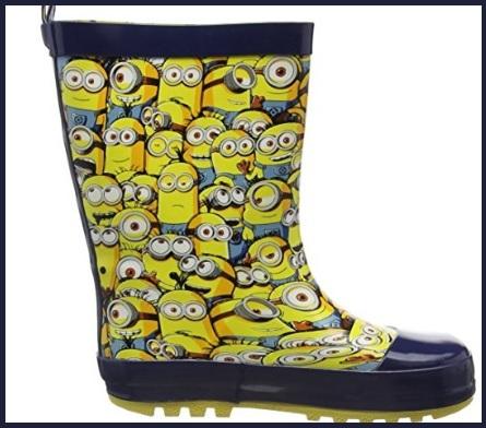 Stivali per bambini per la pioggia dei minions