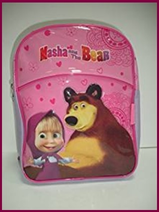 Zaini masha e orso viola e giallo