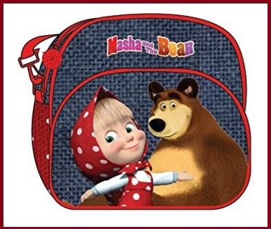Borse tracolle e zainetti in peluche di masha e orso