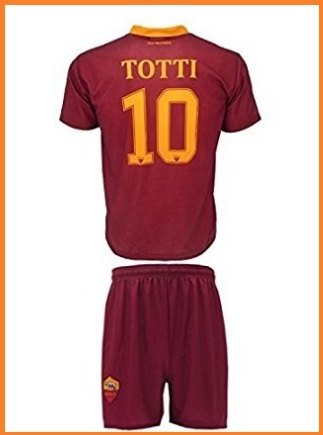 Completo della squadra di calcio roma per bambini