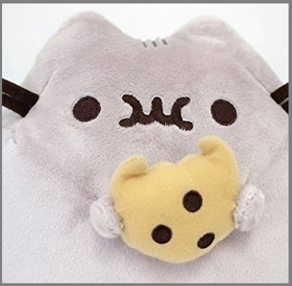 Peluche per bambini gattino con biscotto
