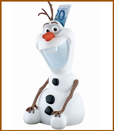 Salvadanaio Statuina Della Disney Di Olaf