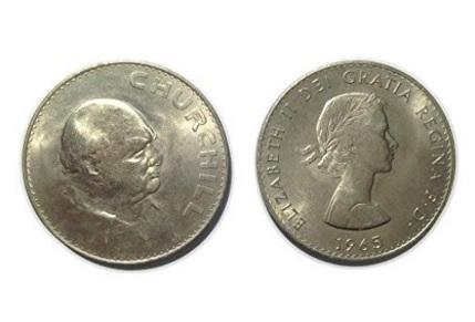 Monete da collezione winston churchill 1965
