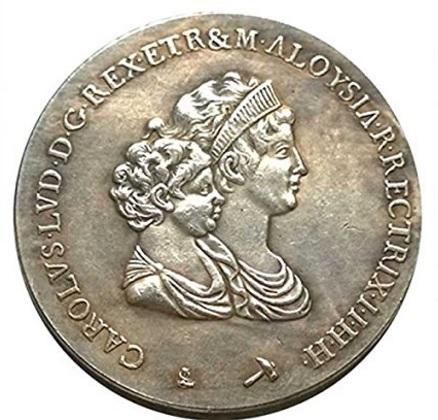 Moneta carlo ludovico borbone 1803