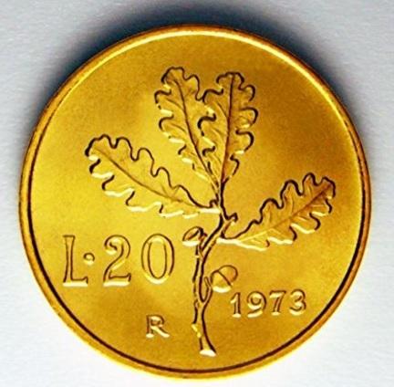 Moneta placcata oro repubblica italiana