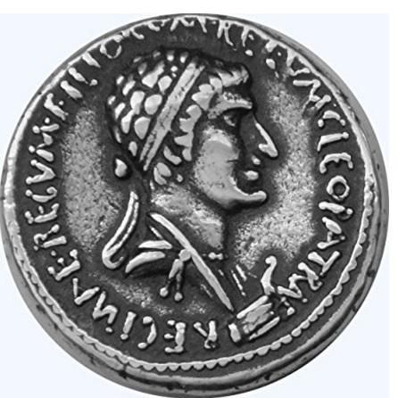 Marc antonio e cleopatra moneta da collezione