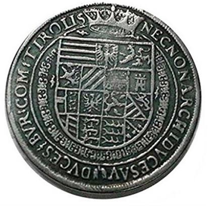 Moneta sacro romano impero rodolfo ii 1605