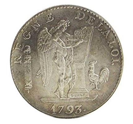 Moneta rivoluzione francese 1793