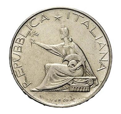Moneta in argento 500 lire 1961