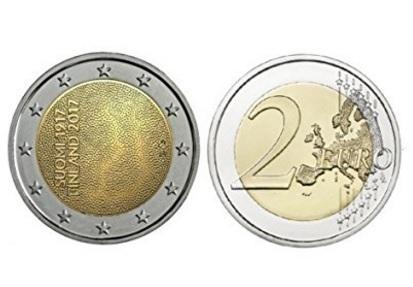 Moneta 2 euro 2017 della finlandia