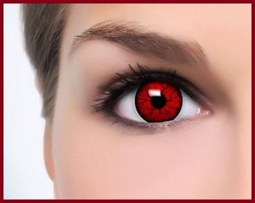 Lenti a contatto rosse diavolo
