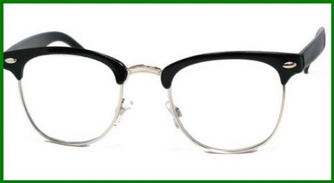 Occhiali da vista neri e argento unisex