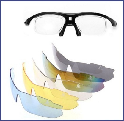Occhiali per sport polarizzati con 5 paio di lenti