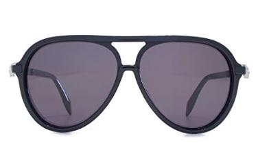 Alexander mcqueen occhiali da sole neri acetato