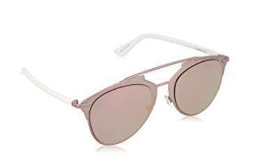Occhiali da sole christian dior in metallo e rose gold