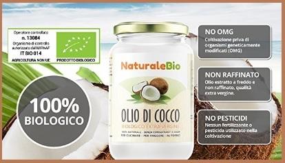 Olio di cocco biologico spremuto a freddo