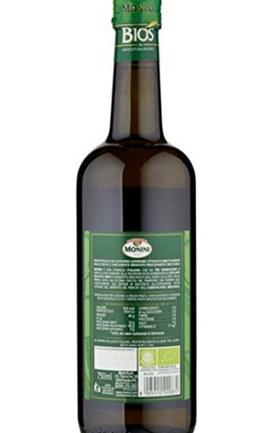 Olio extra vergine di olive italiano monini biologico