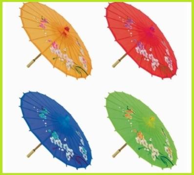 Ombrelli asiatici in seta