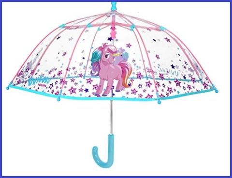 Ombrello bambina trasparente