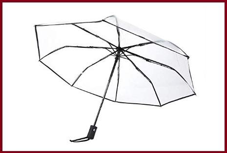 Ombrello pioggia trasparente